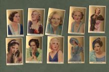 Cigarette cards movie film stars Beauties of the Cinema 1939, Crawford ,Garbo,